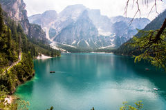 Lake of Braies Stock Images