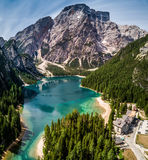Lake of Braies Royalty Free Stock Photography
