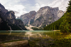 Lake Braies Royalty Free Stock Images