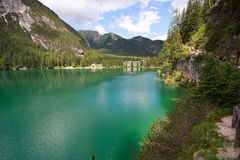 Lake Braies Royalty Free Stock Images