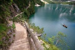 Lake Braies Stock Image