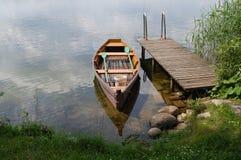 Lake and bridge stock photo