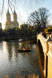 Lake and Bridge, Central Park Royalty Free Stock Photo