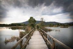 Lake bridge Royalty Free Stock Photo