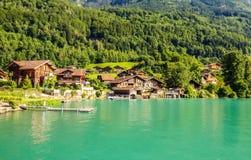 Lake Brienz Brienzersee Embankment Scenery view from cruise boat, Interlaken, Switzerland, Europe Royalty Free Stock Photos