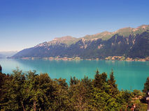 Lake brienz. With summer sky  in switzerland Stock Photo