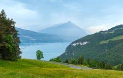 Lake Brienz summer top view (Switzerland). Stock Photos