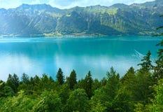 Lake Brienz summer view (Switzerland). Stock Image