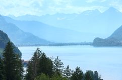 Lake Brienz summer view (Switzerland). Royalty Free Stock Photos