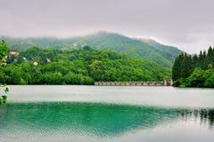 Lake Brugneto with dam Stock Images