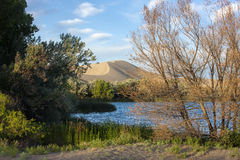 Lake at Bruneau Dunes state park. Stock Image