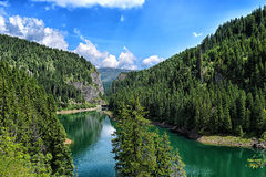 Lake. On Bucegi Mountains visied in vacation Stock Photography