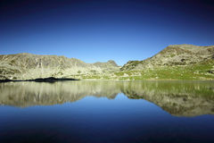 Lake Bucura reflection - Retezat National Park Royalty Free Stock Photography