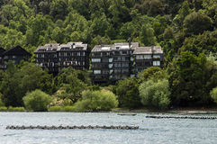 By Lake buildings Stock Photography