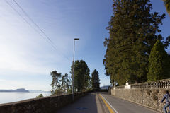 Places at coast of lago maggiore royalty free stock image
