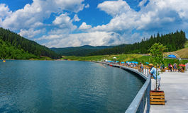 The lake Bukovel Stock Photography