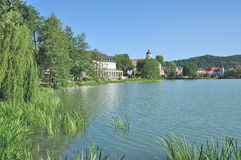Lake Burgsee,Bad Salzungen,Thuringia,Germany Royalty Free Stock Photo