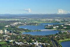 Lake burley griffin. At Canberra australia Stock Photography
