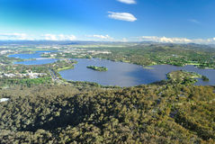 Lake Burley griffin. At Canberra australia Stock Image