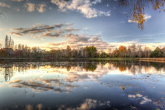 Lake Burley Griffin in Canberra, Australian Capitol Territory. Australia. Stock Photo