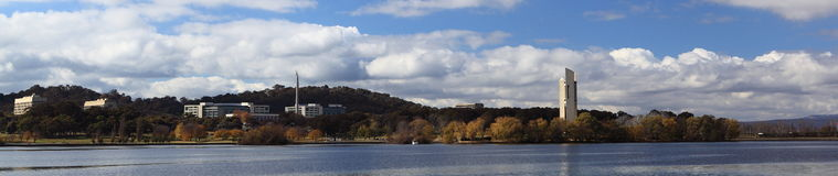 Lake Burley Griffin and National Carillon Royalty Free Stock Images