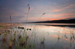 Lake Burralow after sunset Australia Royalty Free Stock Image