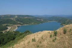 Lake Butoniga, Istria Stock Image
