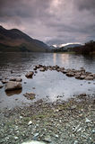 Lake Buttermere and mountain landscape Royalty Free Stock Photography