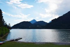 The lake of Cadore, in Belluno, Italy Stock Images