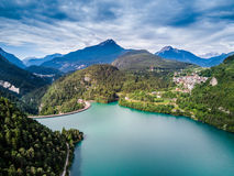 Lake of Cadore Stock Photo