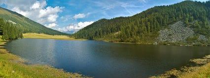 Lake Calaita, Dolomites - Italy. Relaxing view of the lake Calaita, Dolomites - Italy stock photography