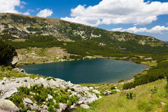 Lake Calcescu in Romania Royalty Free Stock Photography