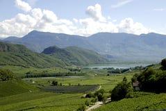 Lake Caldaro in South Tyrol Royalty Free Stock Images