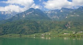 Lake Caldaro,south Tyrolean Wine Route,Italy Stock Photo