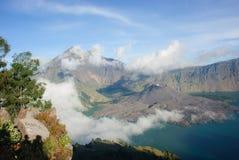 Lake and caldera Stock Photography