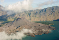 Lake and caldera Stock Image