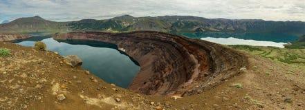 Lake in Caldera volcano Ksudach. South Kamchatka Nature Park. Stock Photo