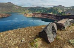 Lake in Caldera volcano Ksudach. South Kamchatka Nature Park. Stock Photography