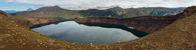 Lake in Caldera volcano Ksudach. South Kamchatka Nature Park. Royalty Free Stock Photos