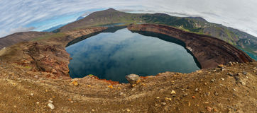 Lake in Caldera volcano Ksudach. South Kamchatka Nature Park. Stock Photos