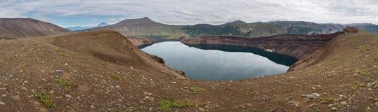 Lake in Caldera volcano Ksudach. South Kamchatka Nature Park. Royalty Free Stock Image