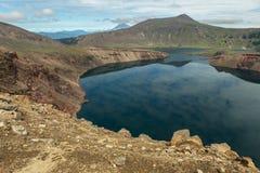 Lake in Caldera volcano Ksudach. South Kamchatka Nature Park. Royalty Free Stock Photo
