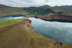 Lake in the Caldera volcano Ksudach. South Kamchatka Nature Park. Stock Images