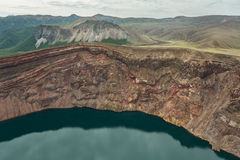 Lake in the Caldera volcano Ksudach. South Kamchatka Nature Park. Stock Photos