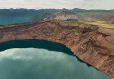 Lake in the Caldera volcano Ksudach. South Kamchatka Nature Park. Royalty Free Stock Image