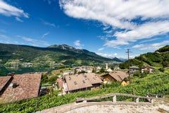 Lake of Caldonazzo - Trentino Alto Adige - Italy. Lago di Caldonazzo Lake with the Italian Alps in the small village of Ischia, Trentino Alto Adige, Italy royalty free stock images