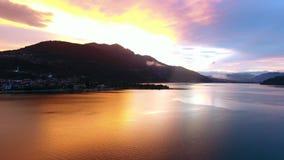 Lake Caldonazzo in Trentino, Italy stock footage