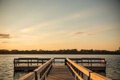 Lake Calhoun Minneapolis. Sunset in front of the lake calhoun minneapolis Stock Image
