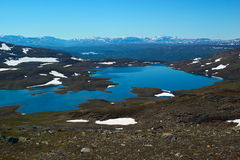Lake Called Storelvvatnet Close To Sulitjelma, Nor Royalty Free Stock Image