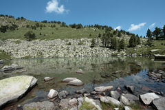 Lake of camisette in Pyrenees Royalty Free Stock Photo